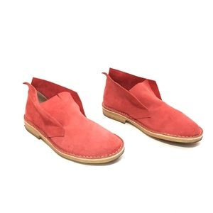 Dusica Dusica Clarin Light Red Suede Slip-Ons